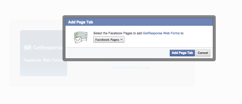 Add GetResponse Web Form to a Facebook Page