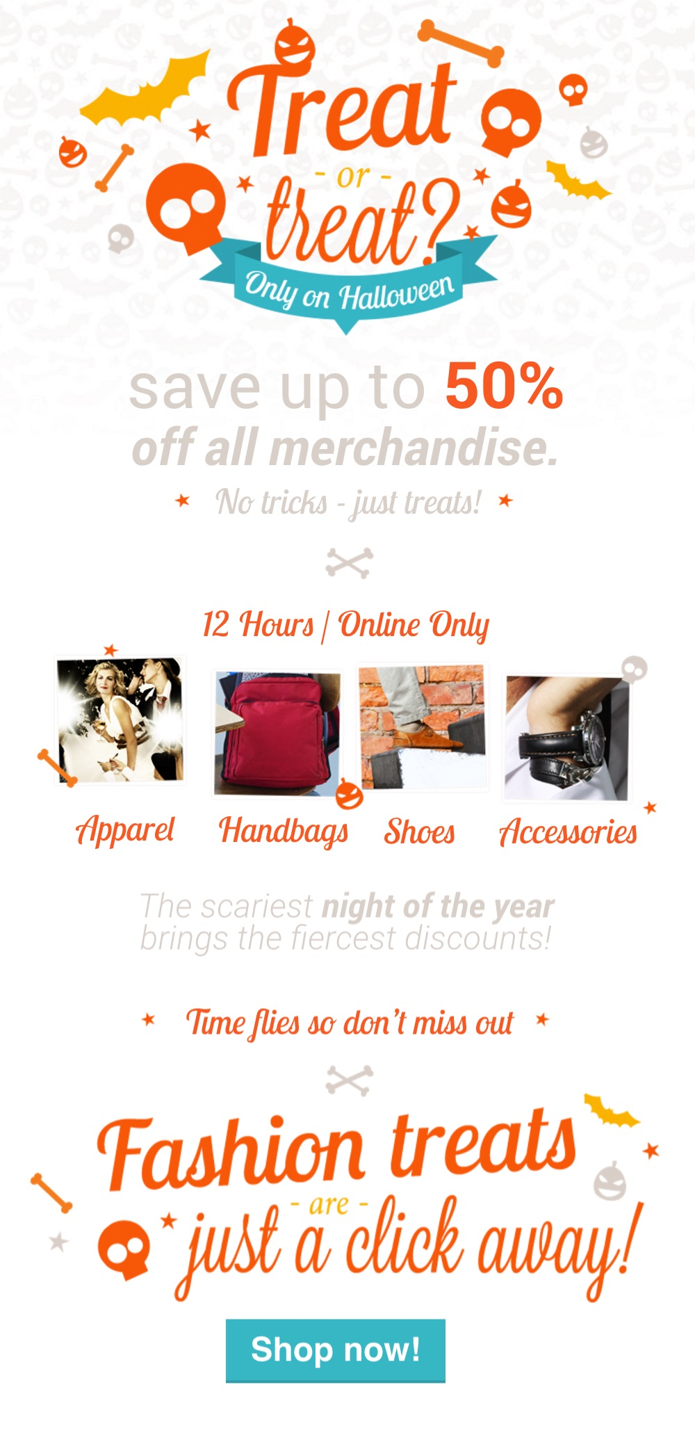 Trick or Treating Halloween Landing Page Template