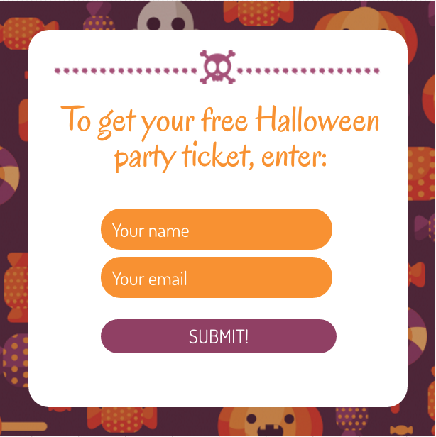 Freaky Halloween Party Web Form Template