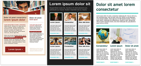 More Newsletter Templates Again Getresponse Blog