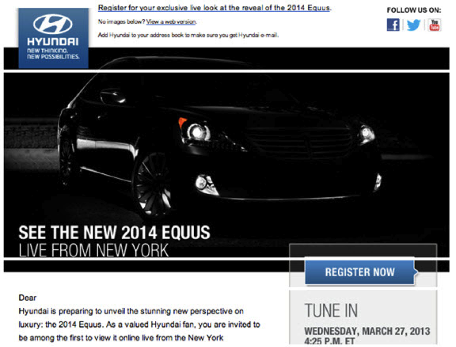 New Equus event live broadcast