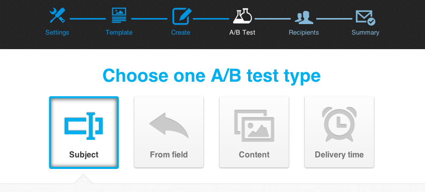 Choose your A/B Test type