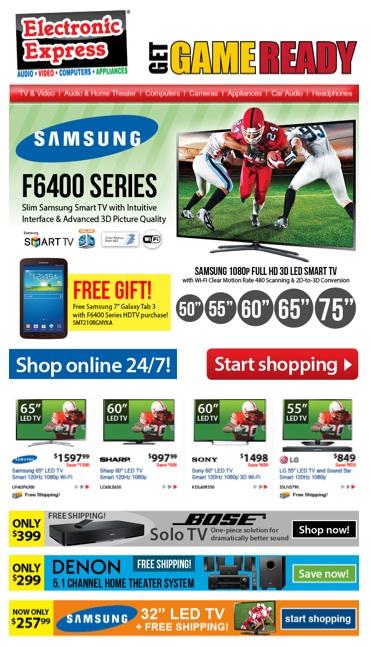 Electronic Express Super Bowl newsletter