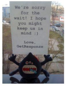 GetResponse apology