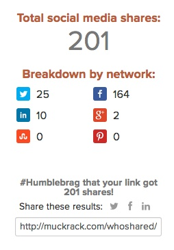 Who shared my link - social share count
