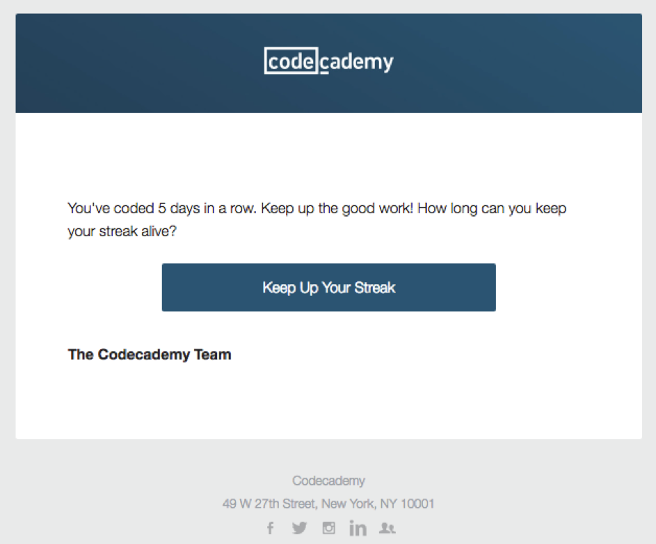 Activity update by CodeCademy