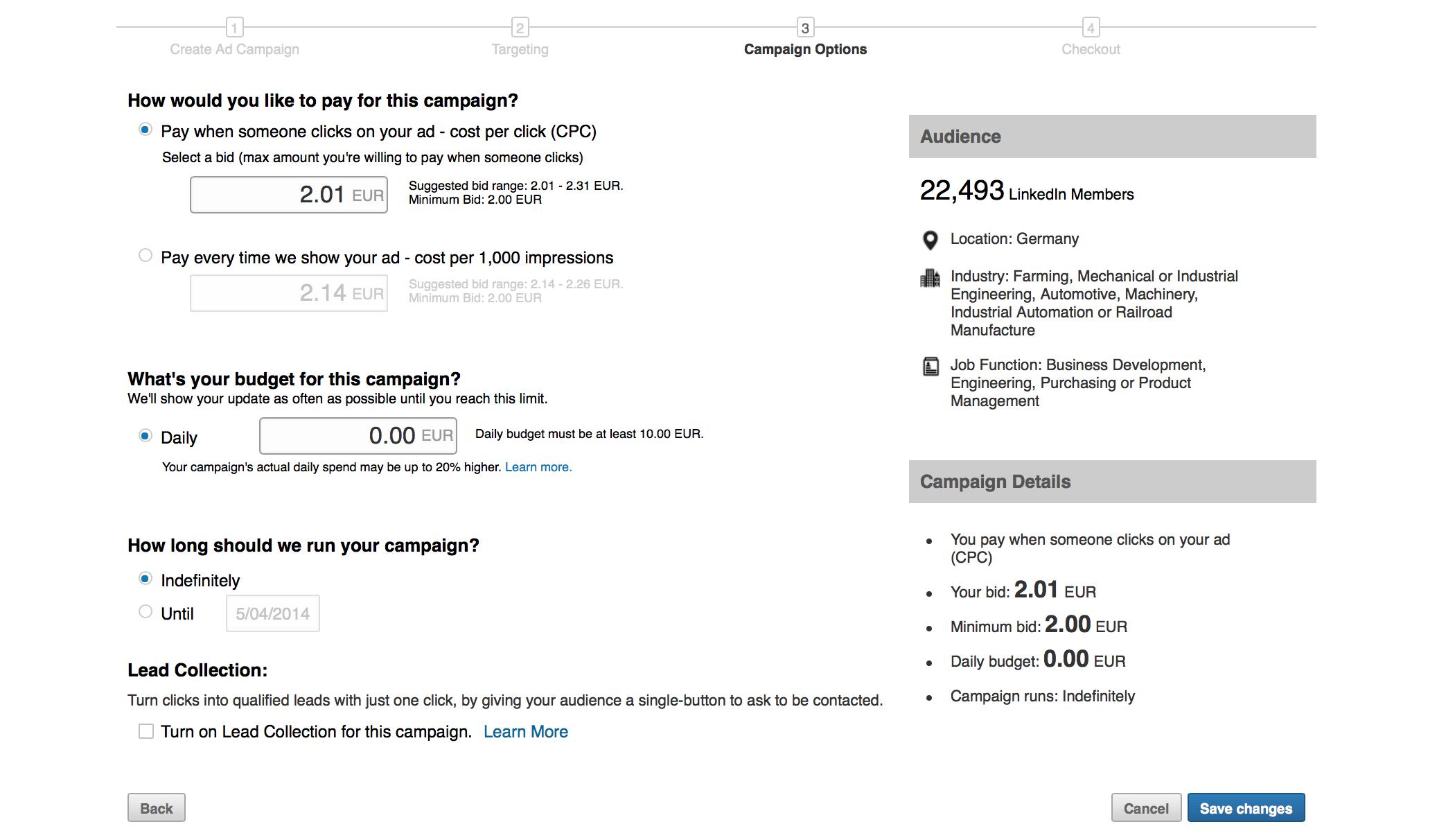Budgeting Linkedin