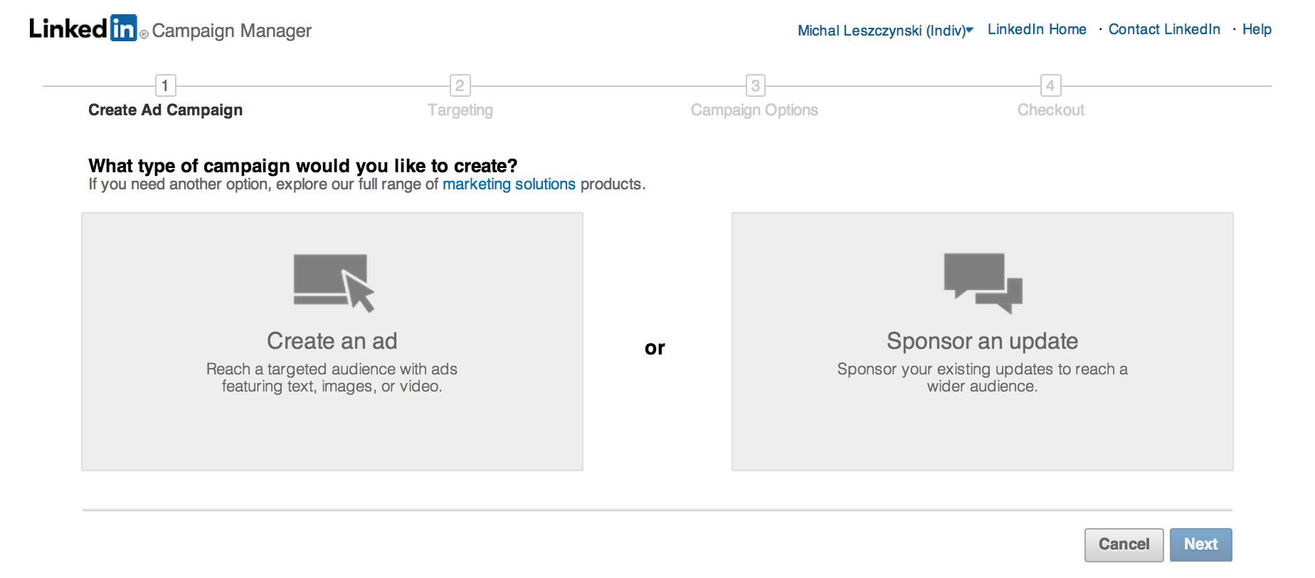 LinkedIn-reklamy-sponsorowane-aktualizacje