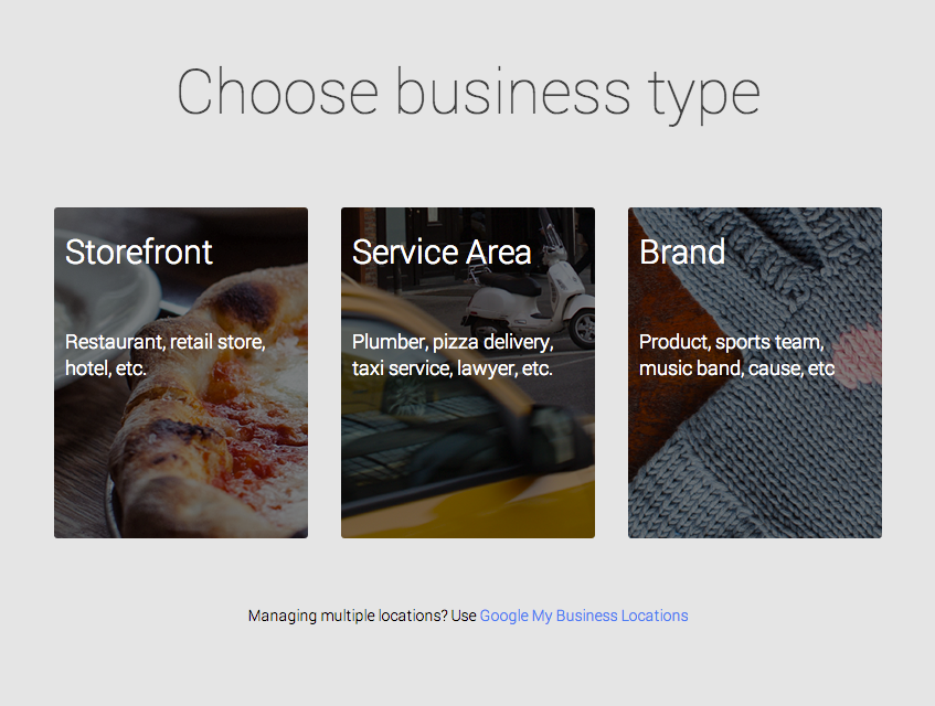 3 Types of Business Google My Business