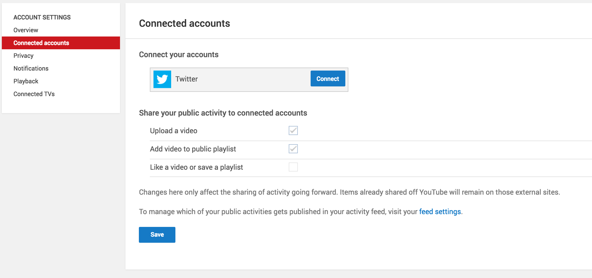 Connecting Social Media Accounts to YouTube Channel