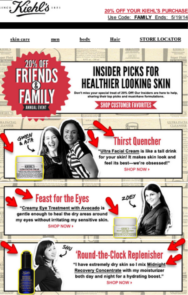 Kiehl's newsletter 1