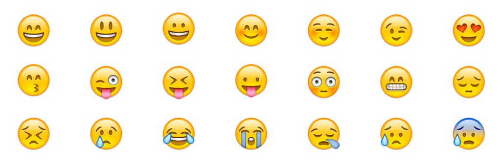 Example of emoji in internet marketing