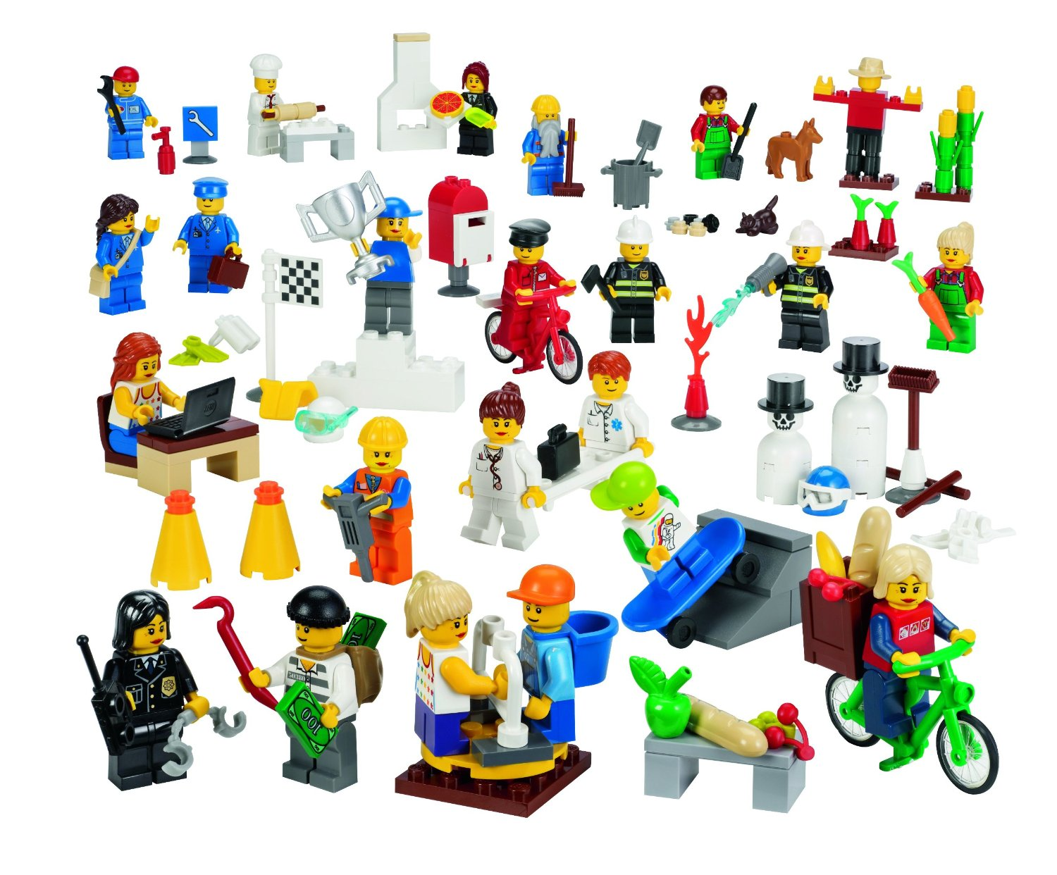 Example of customized photographs of use Lego as an action figure
