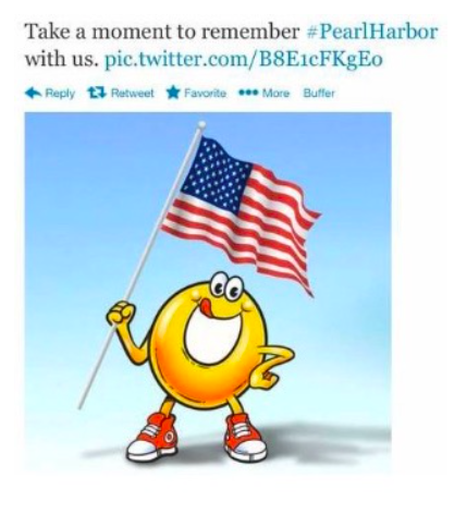 Example of social media mistake made by SpaghettiOs