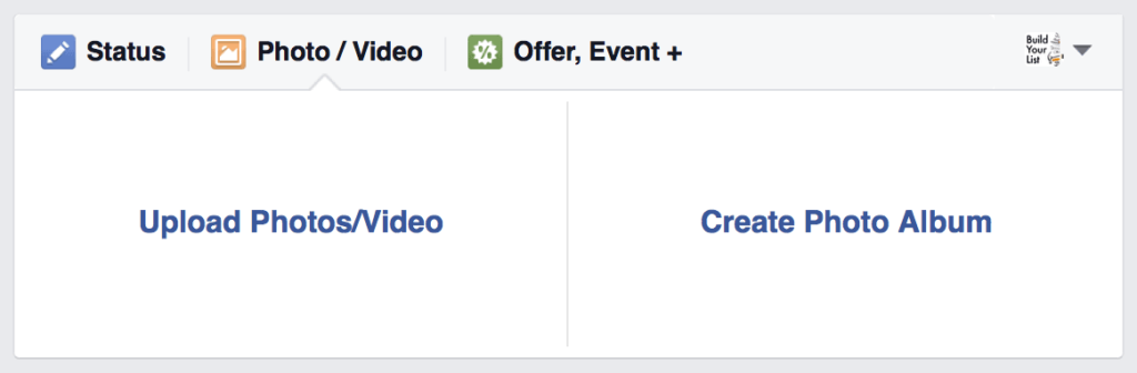 """Sample of """"Upload Photos/Video"""" in Facebook post"""