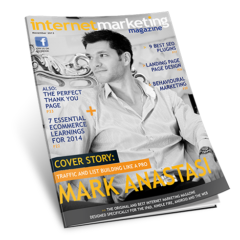 Mark Anastasi on cover of Magazine