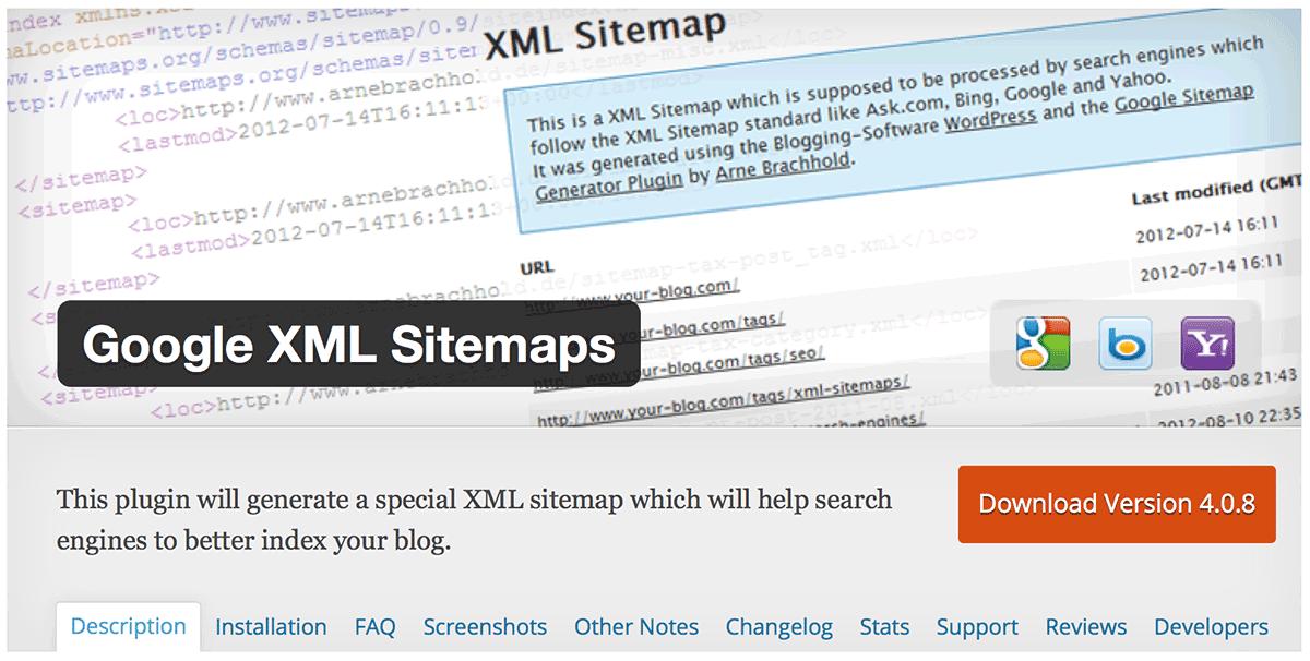 GoogleXMLSitemaps