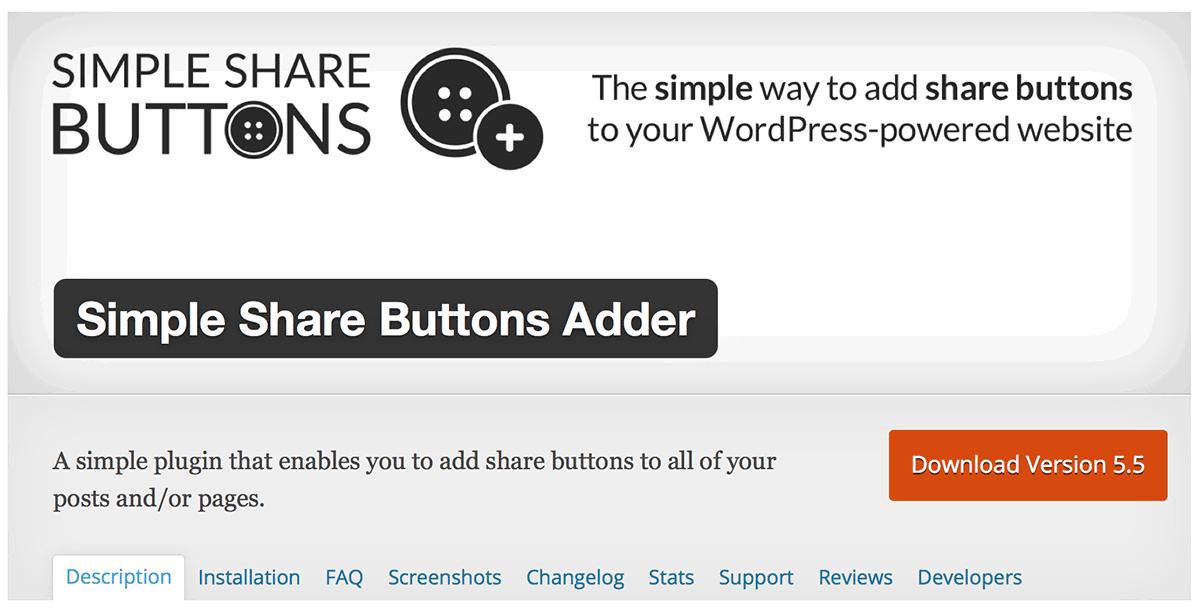SimpleShareButtonsAdder