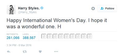 Tweet Harry Styles