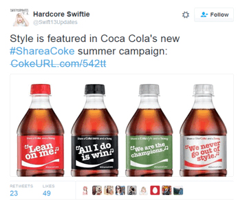 Tweet Coca Cola
