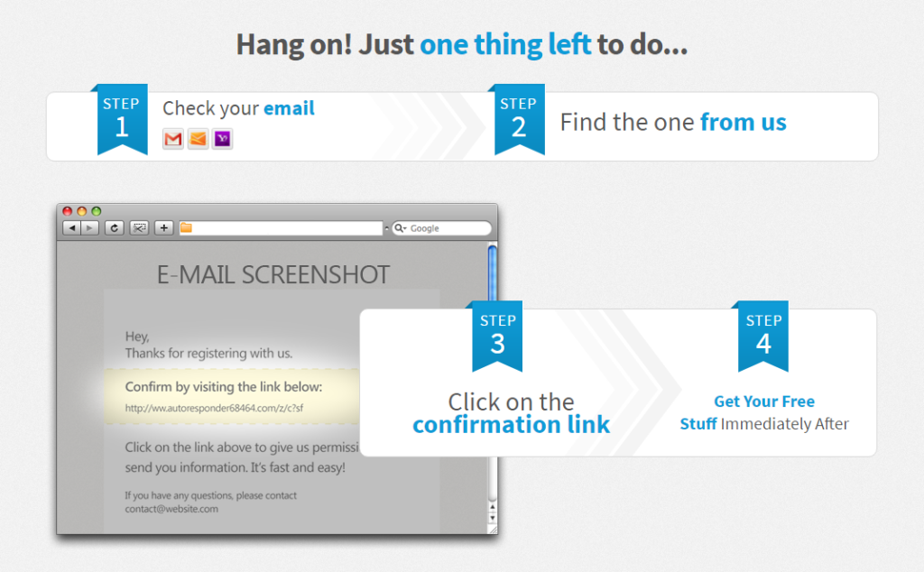 3 Ingredients For High-Converting Confirmation Pages And