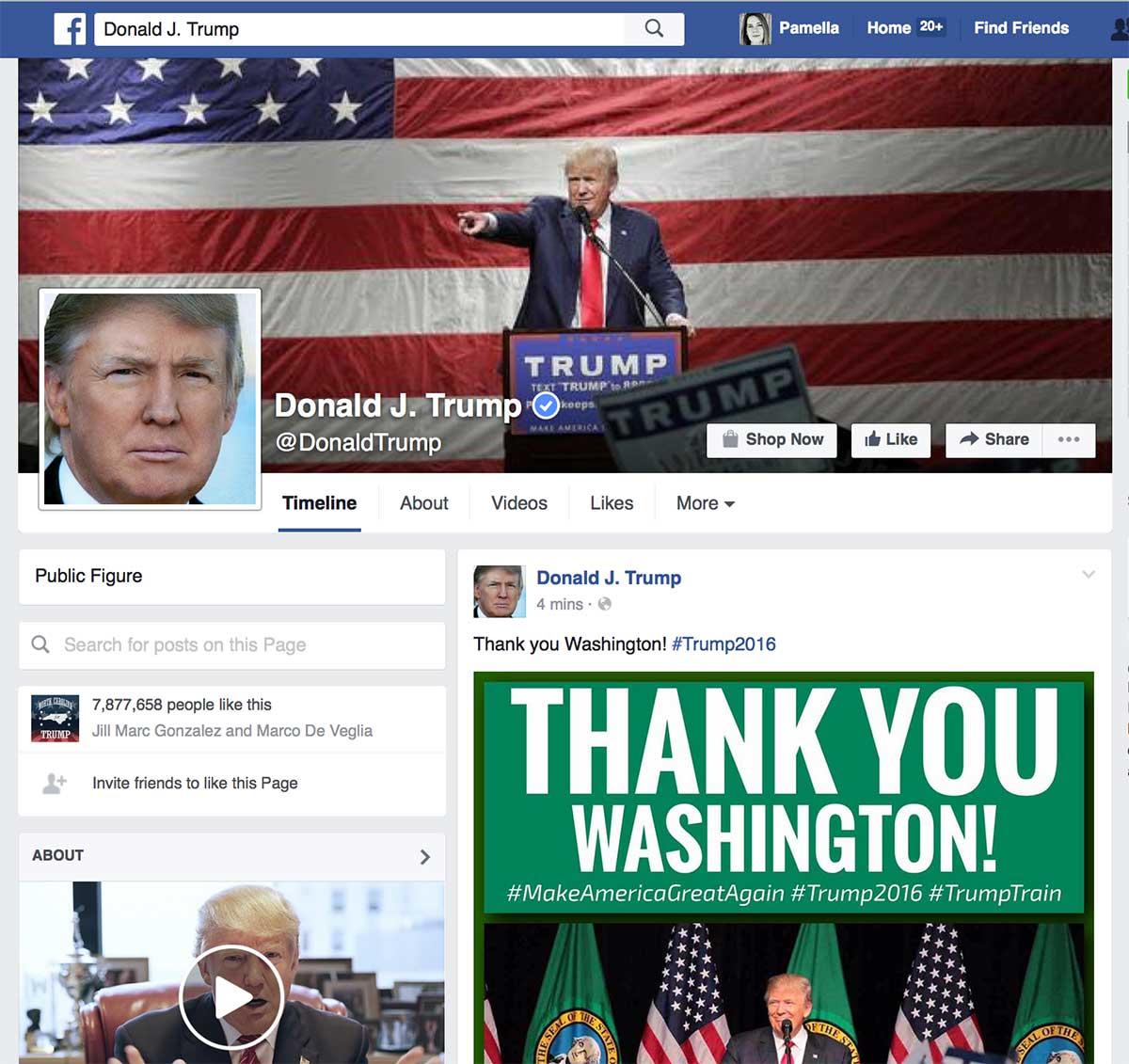 DonaldTrumpFacebook