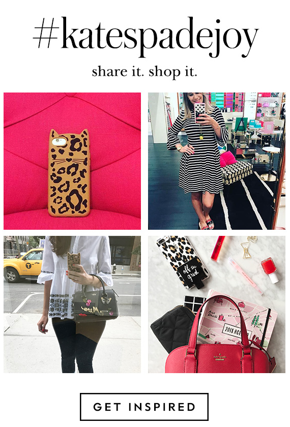 Kate Spade using instagram photos in her email campaigns