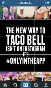 product launch tactics Taco Bell instagram