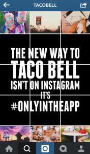 product launch tactics Taco Bell instagram