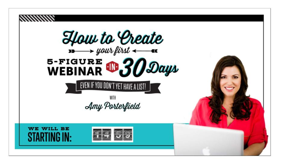 Amy Porterfield webinar example