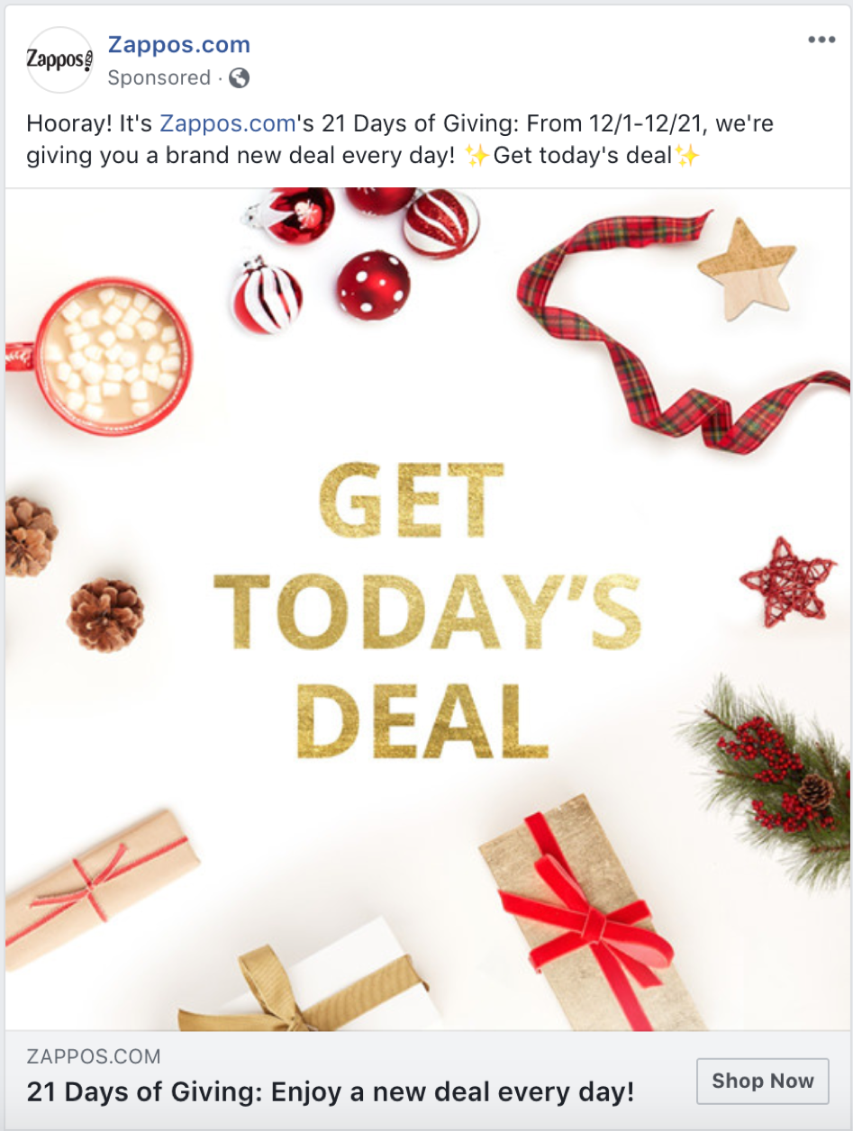 zappos social ads targeting