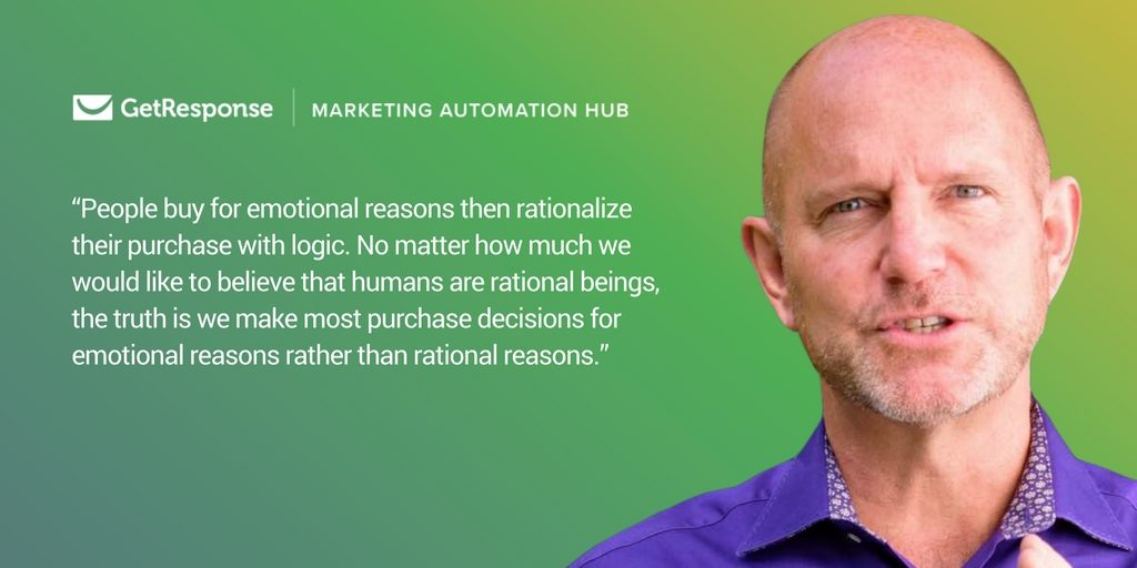 Marketing Automation Highlights of 2016: People buy for emotional reasons then rationalize their purchase with logic. No matter how much wee would like to believe that humans are rational beings, the truth is that we make most purchase decisions for emotional reasons rather than rational reasons.