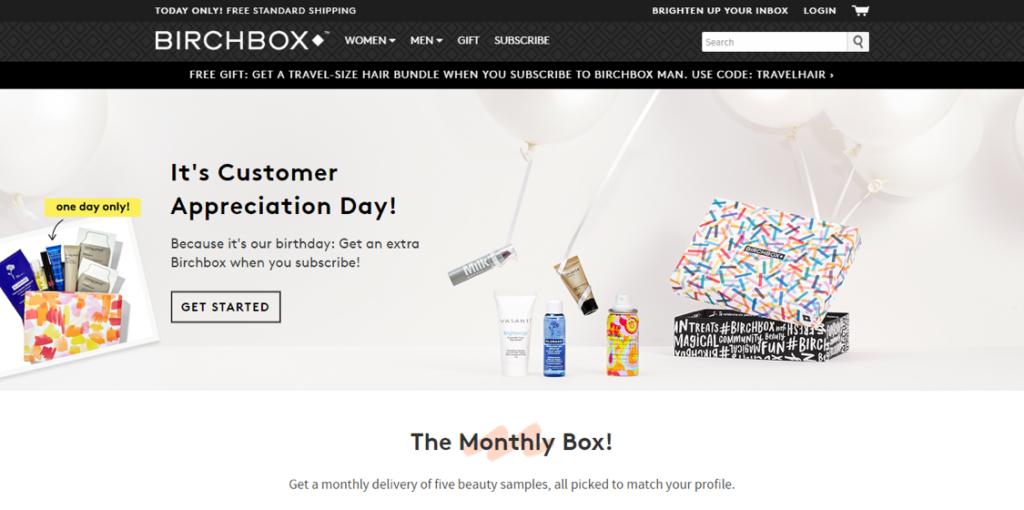 eCommerce Innovations - subscription based eCommerce: Birchbox