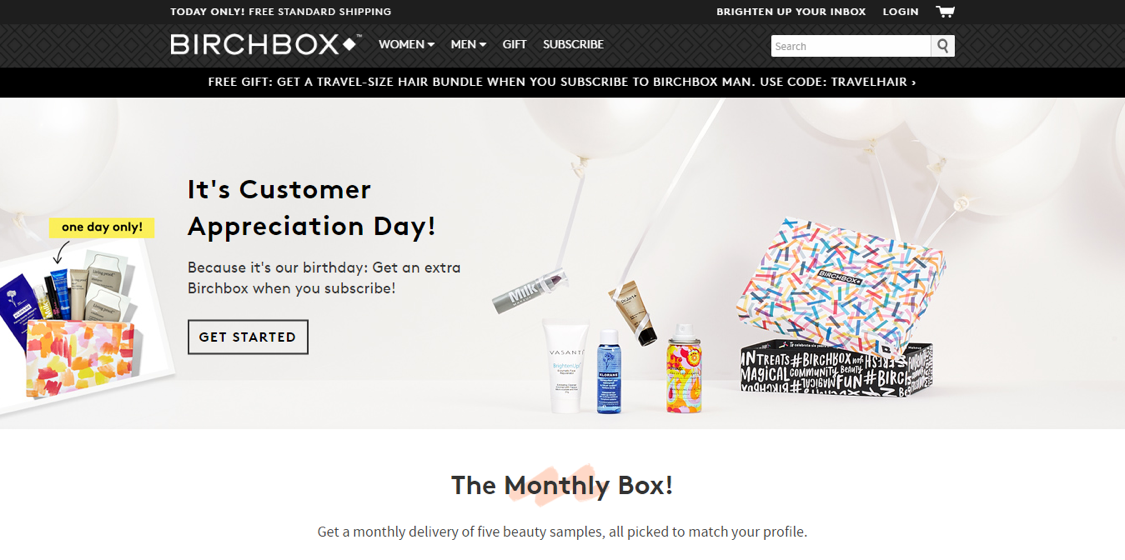 eCommerce Innovations - subscription based eCommerce: Birchbox