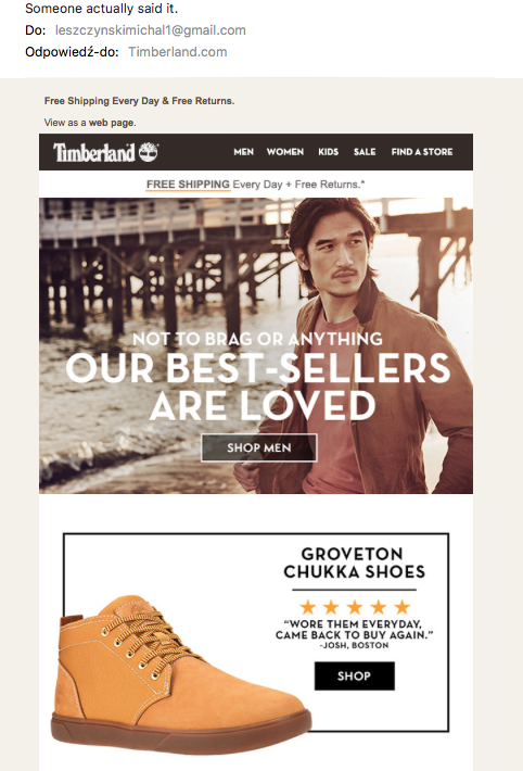 Best selling products from Timberland