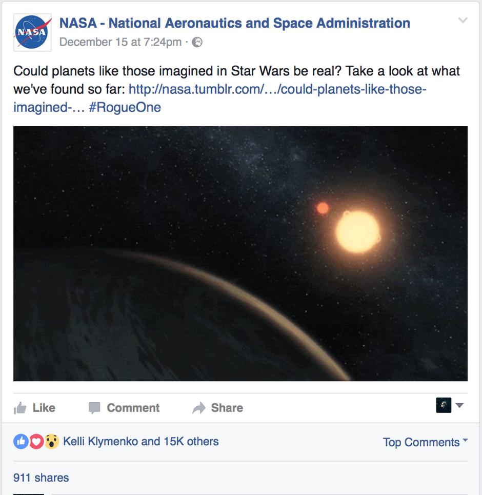 NASA's social media triumphs