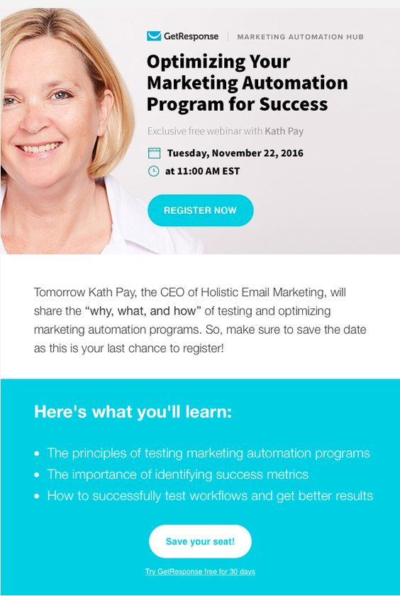 webinar email invitation