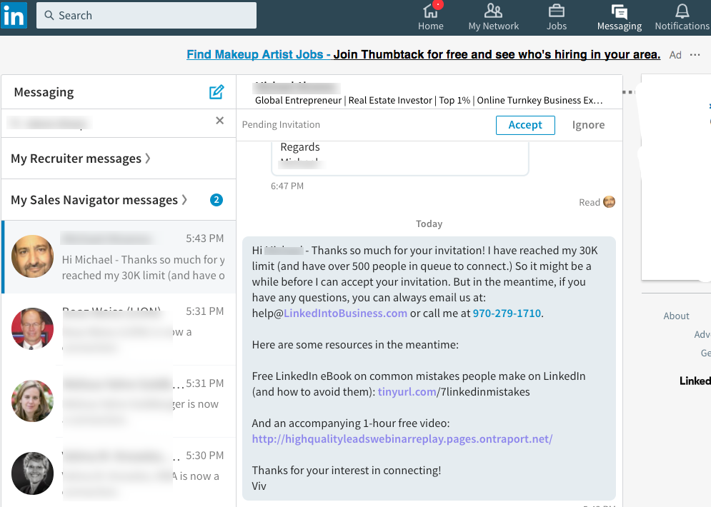 LinkedIn lead magnet messaging
