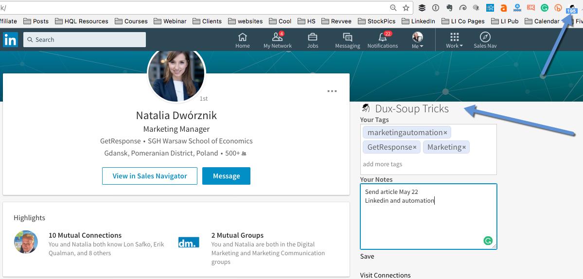 LinkedIn lead magnet Dux-Soup