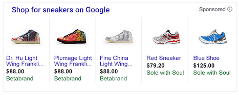 Google product listing ads online advertising opportunities