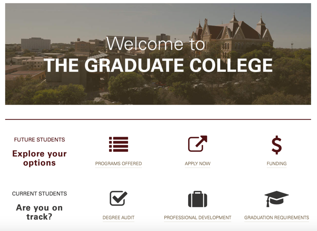 university of texas graduate college marketing automation higher education email