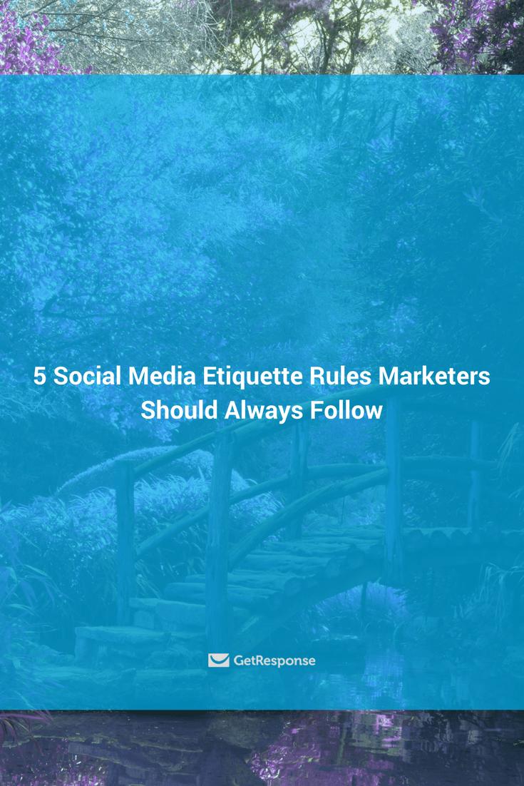 social media etiquette rules