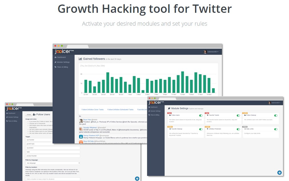 crowdfire social growth hacking tool