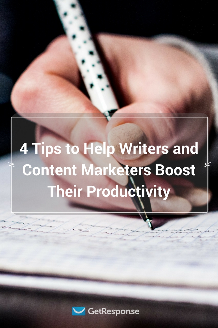 tips to help writers boost their productivity