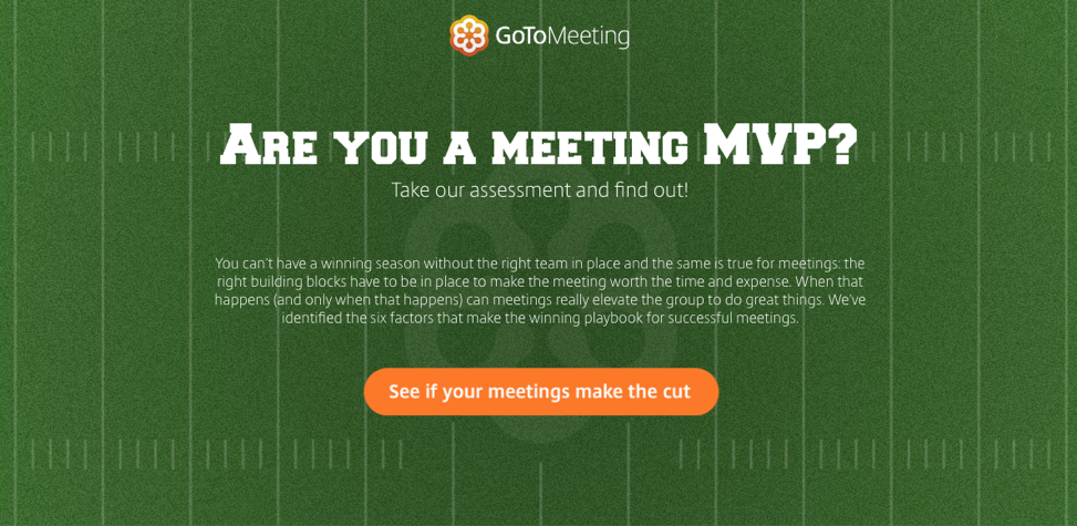 Citrix example of interactive content: are you a meeting MVP?
