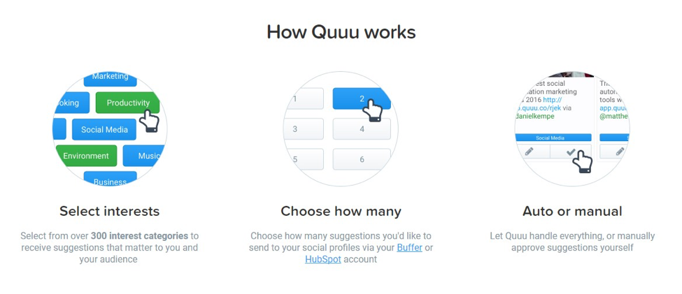 quuu growth hacking tool example