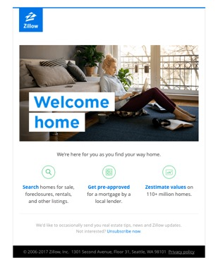 zillow example of business emails