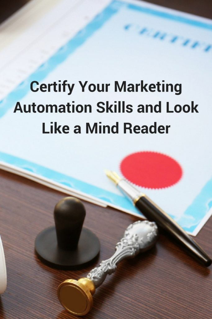 marketing automation certification