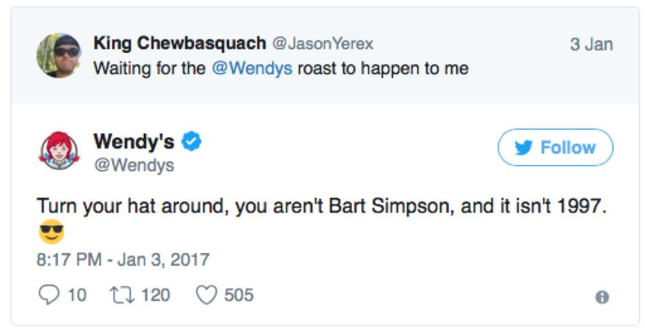 wendy's social media roast of 2017 2