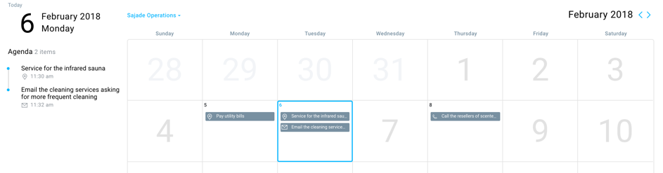 CRM Calendar- a productivity tool